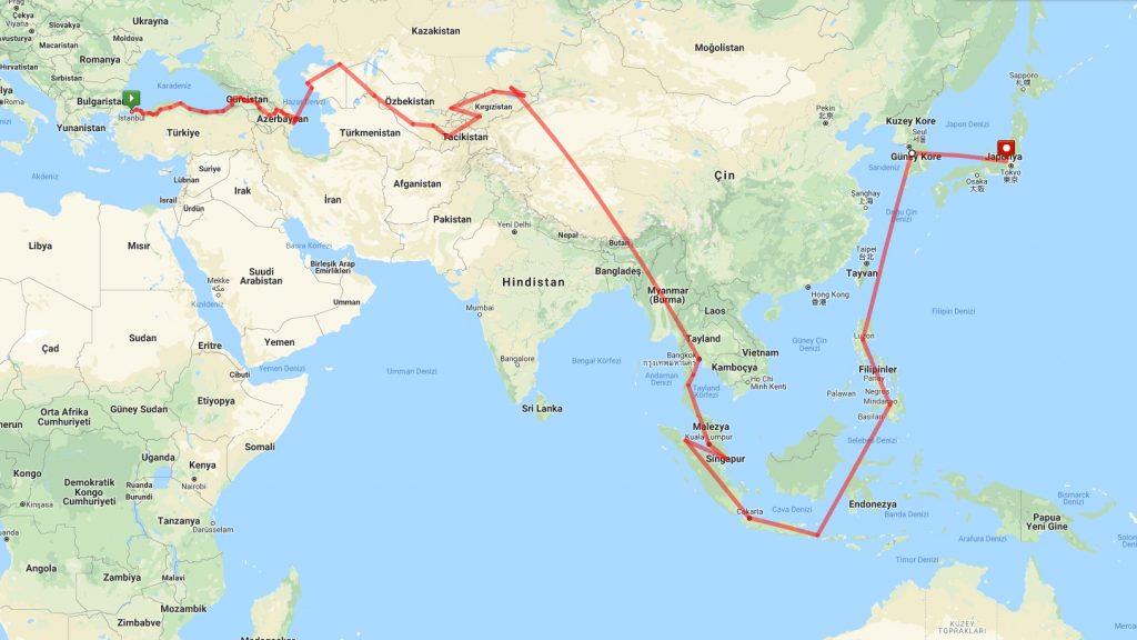 Asya Kıtası Rotası